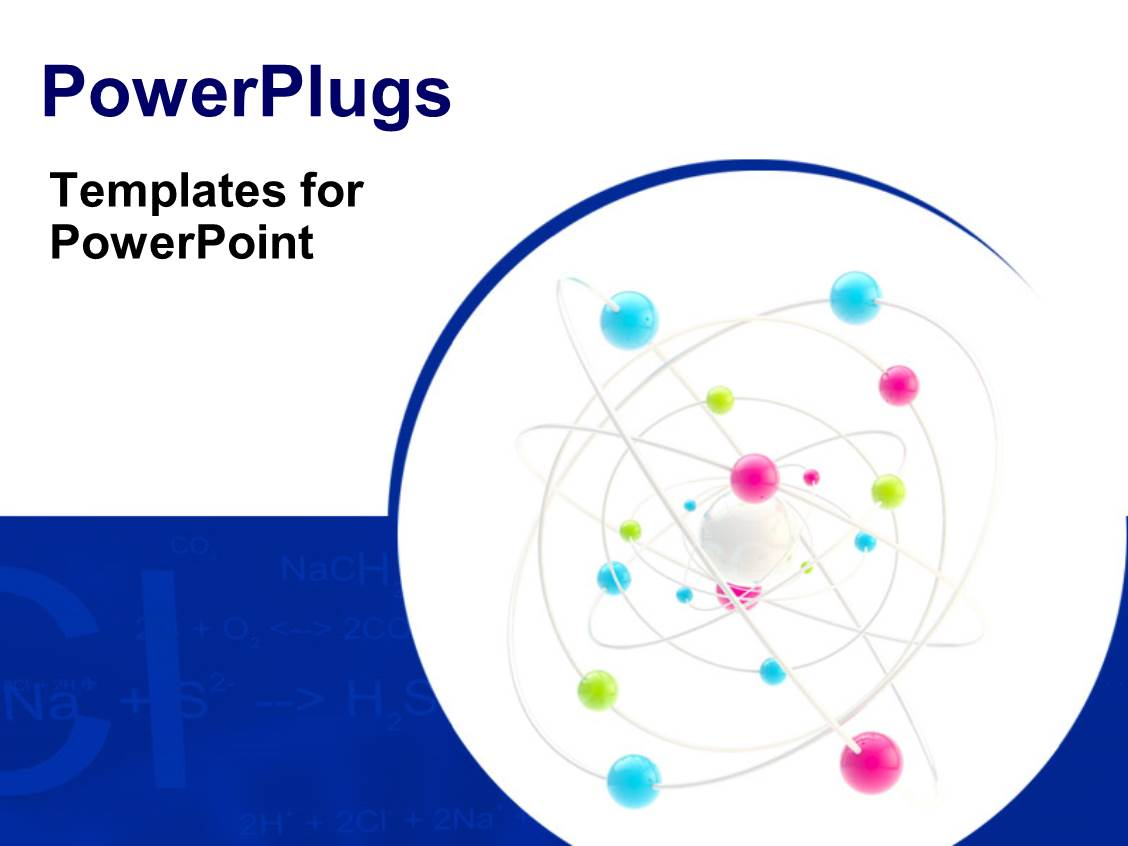 Powerpoint template science symbol as a complex molecule for Power plugs powerpoint templates