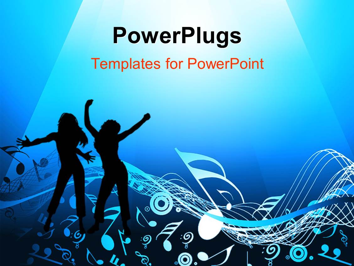 powerpoint template: music theme depicting old fashioned vintage, Modern powerpoint