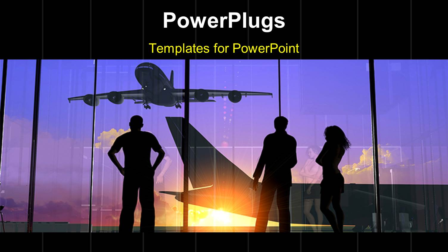 airport powerpoint templates | crystalgraphics, Modern powerpoint
