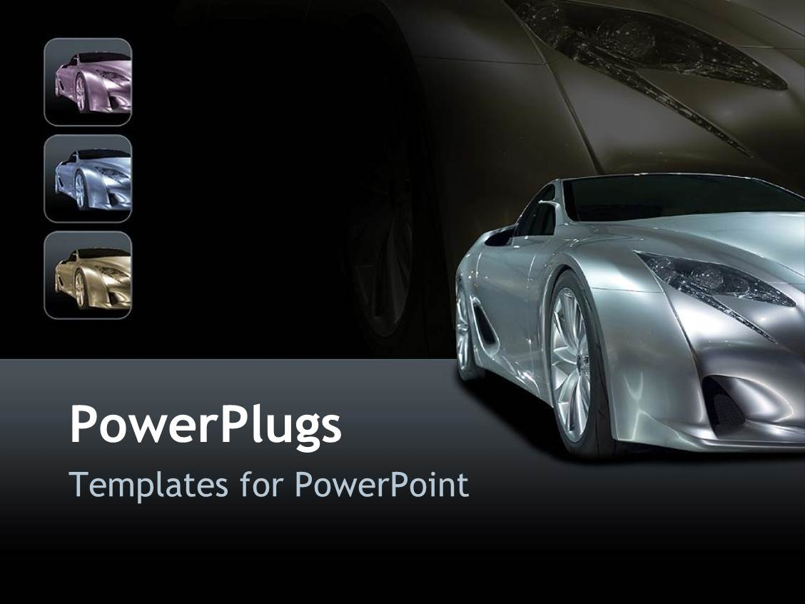 powerpoint template: a beautiful car with reddish background and, Modern powerpoint