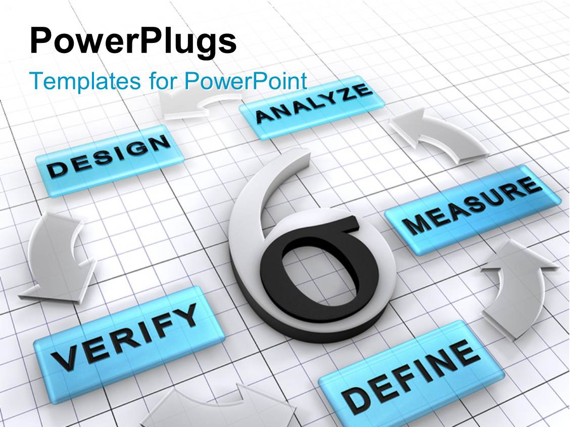 Powerpoint template six sigma surrounded by new business for Define template in powerpoint