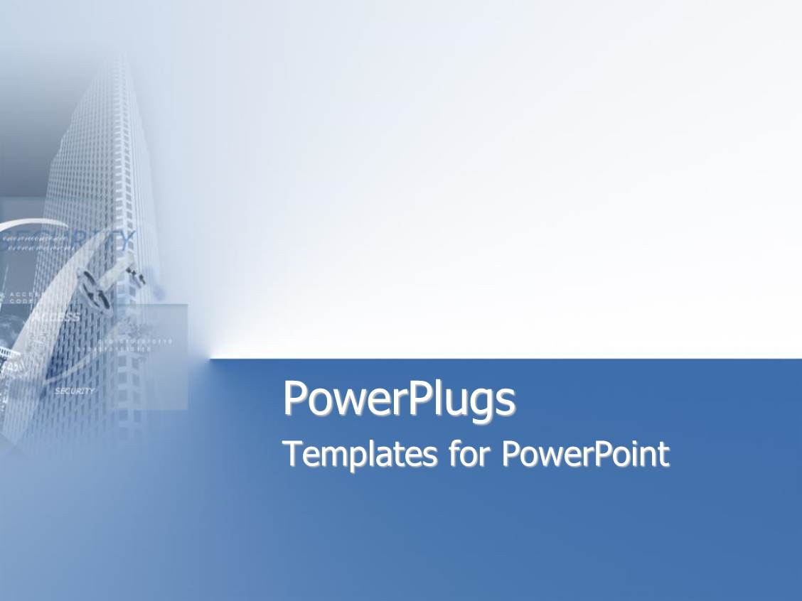 Security powerpoint templates crystalgraphics presentation theme having skyscraper on blue and white background toneelgroepblik Image collections