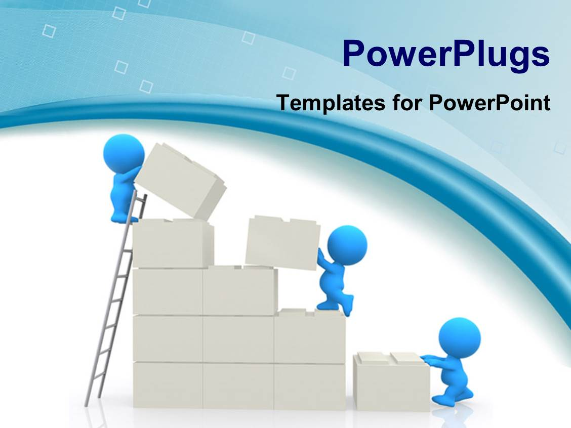 powerpoint template: a person with building in the background (13632), Modern powerpoint