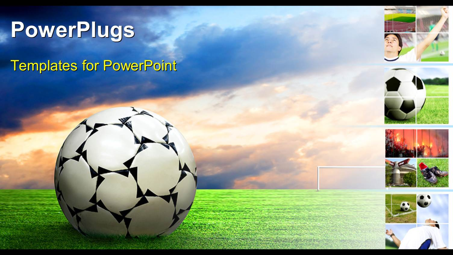 powerpoint template soccer ball football sport game