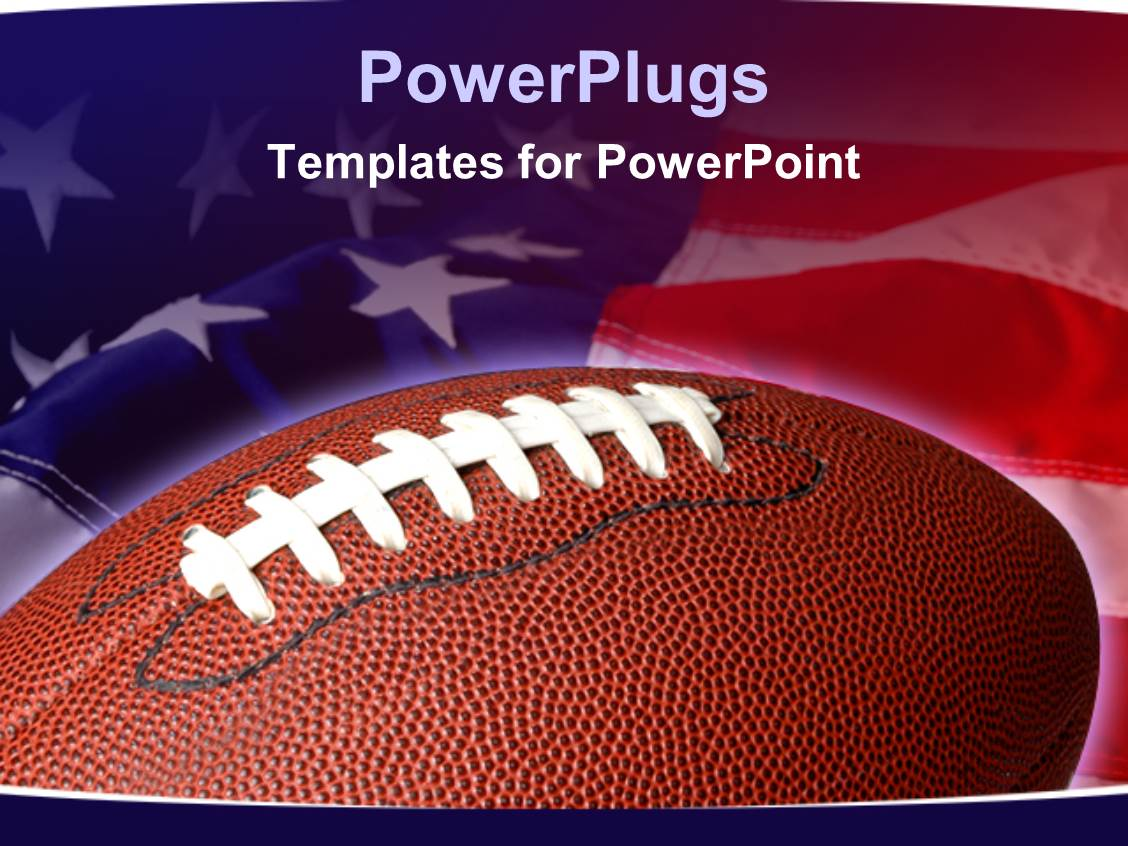 Powerpoint template sports theme with football on waving american powerpoint template displaying sports theme with football on waving american flag background toneelgroepblik Image collections