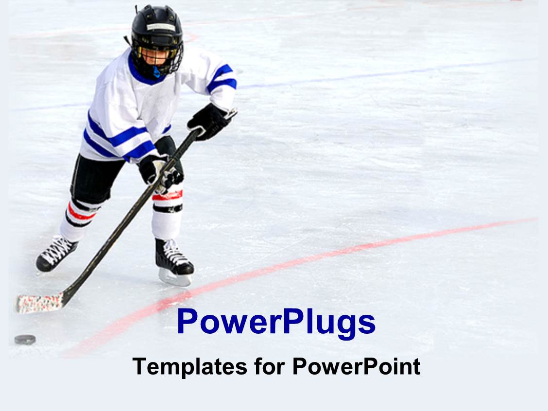 hockey powerpoint templates  crystalgraphics, Templates