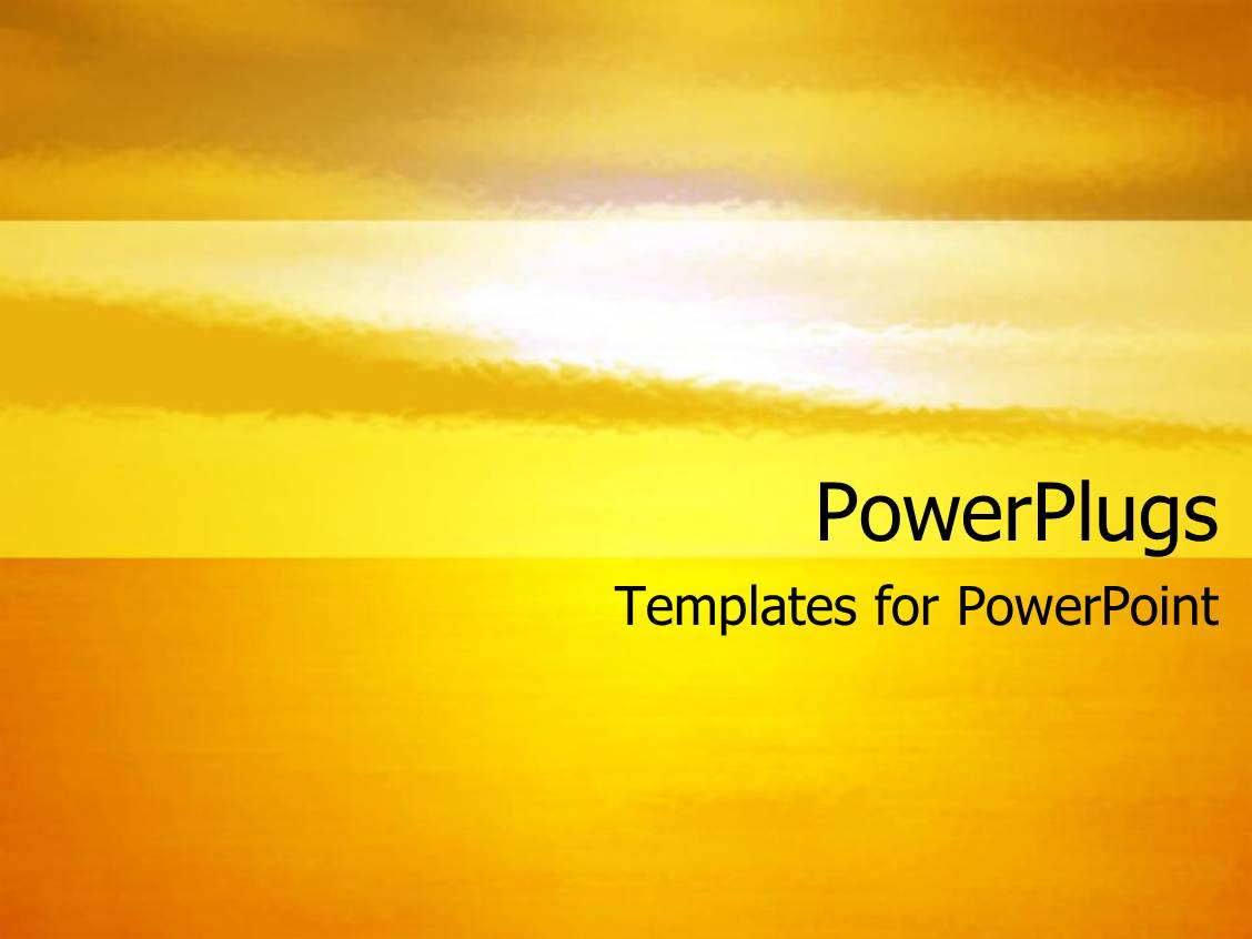 powerpoint template sunset in oranges and yellows with