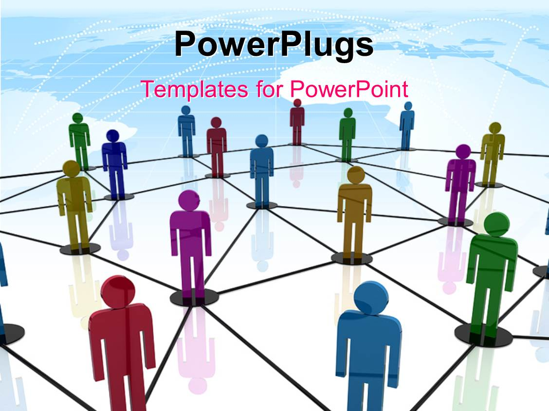 Powerpoint template teamwork depiction with 3d colored people powerpoint template displaying teamwork depiction with 3d colored people linked together in circles toneelgroepblik Images