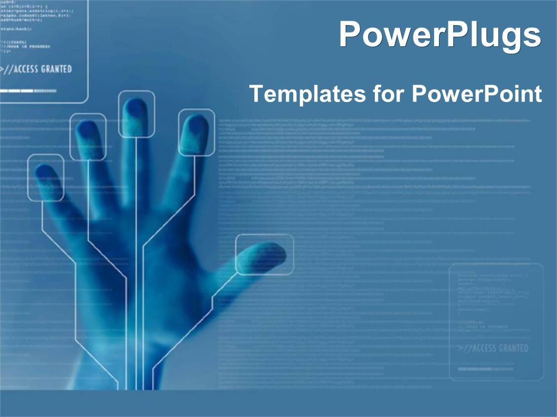 technology power point template