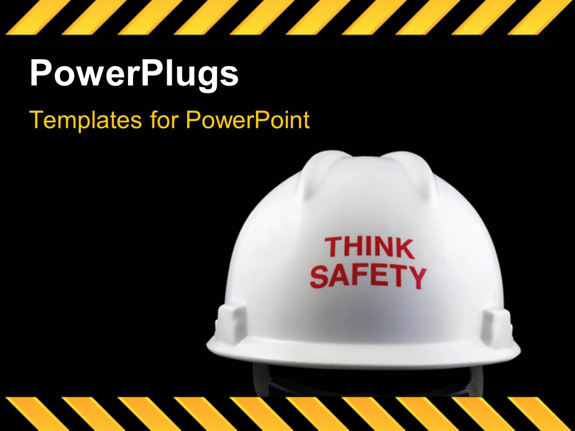 powerpoint template think safety message on the back of