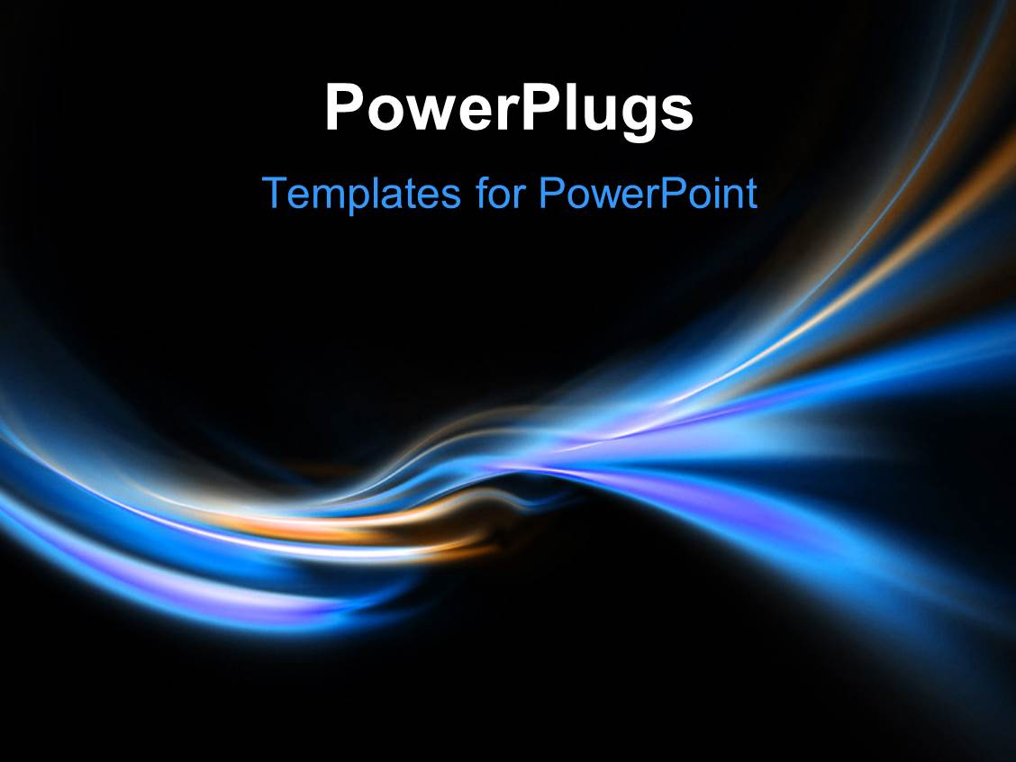 powerpoint template three bright blue glow header neon