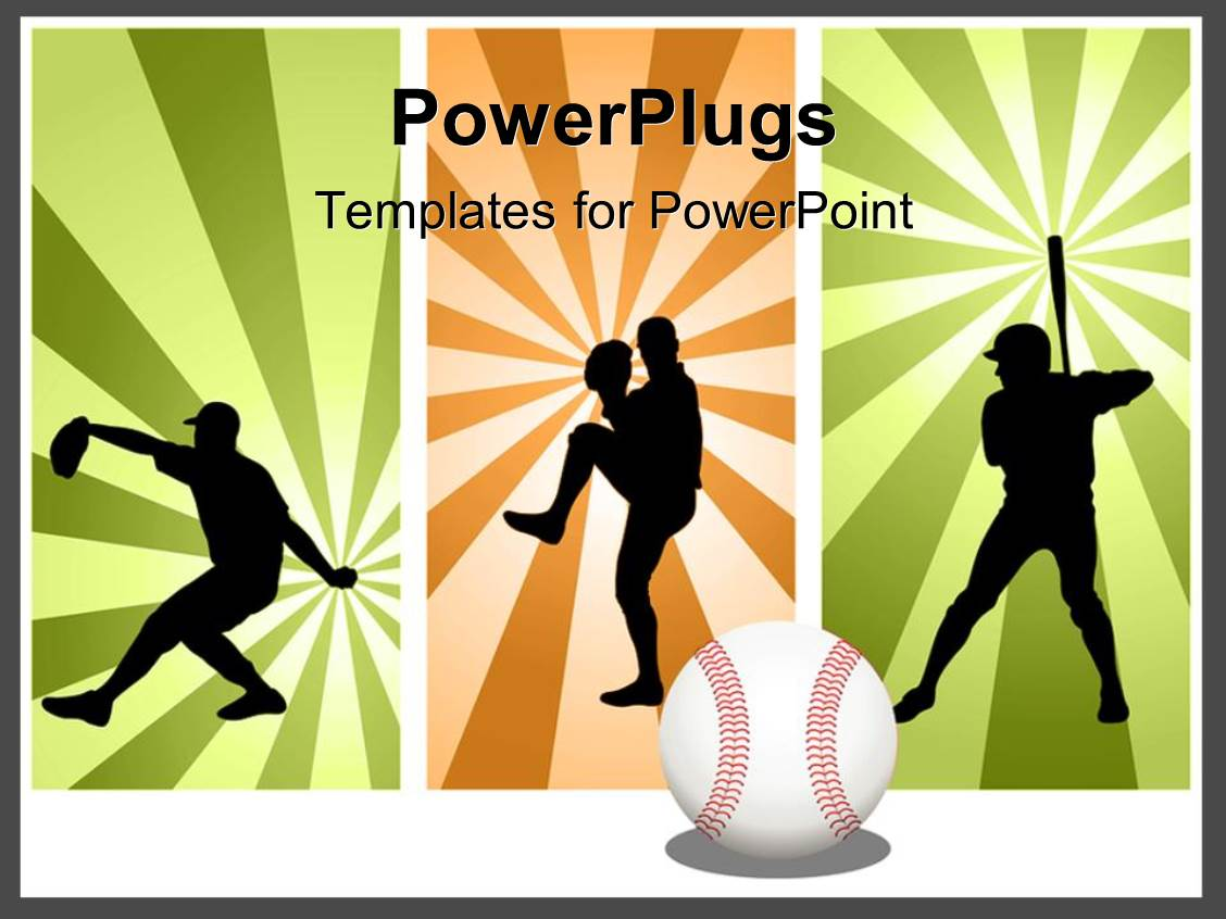 PowerPoint Template a number of kids forming a baseball team 28671 – Baseball Powerpoint Template