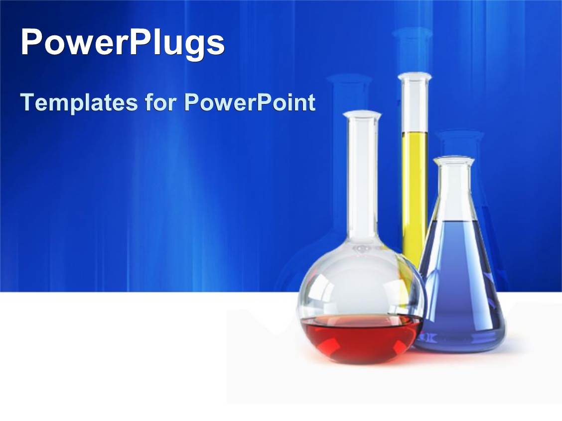 PowerPoint Template three vials lab test tubes with colorful – Chemistry Powerpoint Template