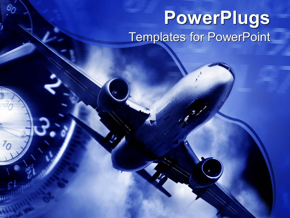 aircraft powerpoint templates | crystalgraphics, Modern powerpoint