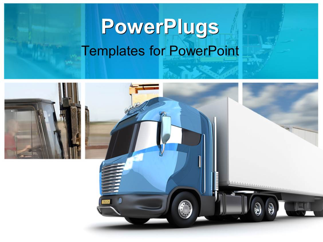 Powerpoint template transport collage with modern truck cargo powerpoint template displaying transport collage with modern truck cargo container toneelgroepblik Choice Image