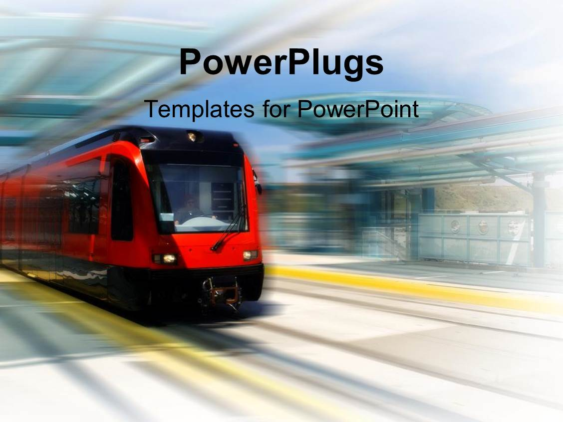 Train powerpoint template gallery templates example free download powerpoint template trolley bus speeding through trolley station powerpoint template displaying trolley bus speeding through trolley toneelgroepblik Images