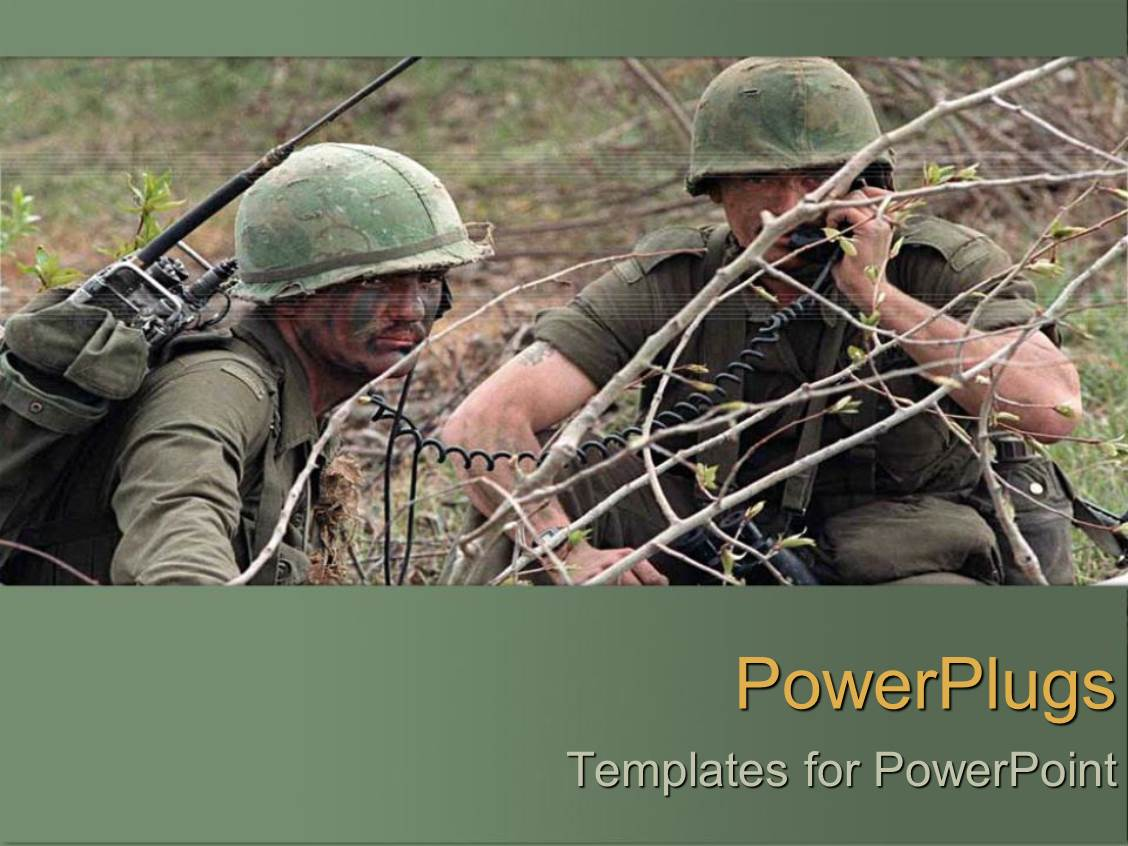 Military powerpoint templates images templates example free download army rotc powerpoint templates crystalgraphics presentation theme featuring two army men during the war template size toneelgroepblik Images