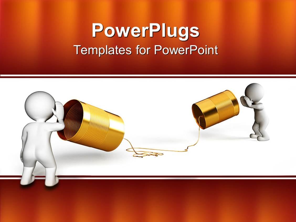 powerpoint template: two people showing an old school of, Modern powerpoint