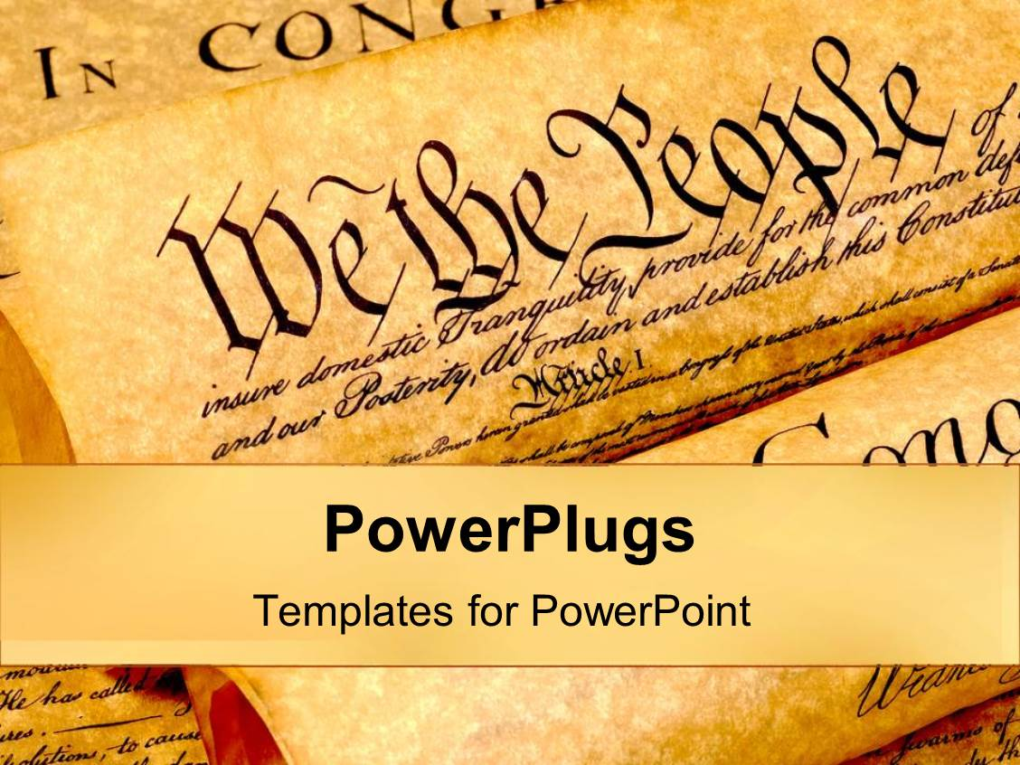 powerpoint template: the united states of american constitution, Modern powerpoint