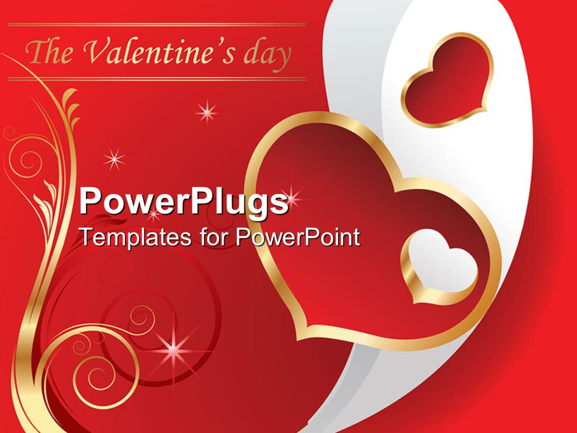 PowerPoint Template: Valentine's Day theme with The ...