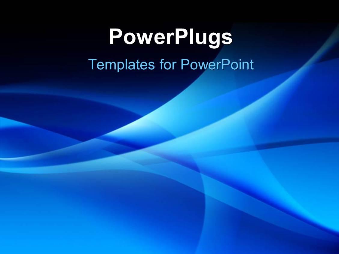Powerpoint template various bluish waves in the for Power plugs powerpoint templates