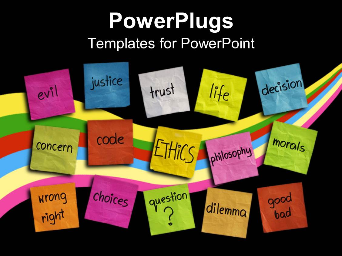 Powerpoint Template Various Colored Sticky Notes With