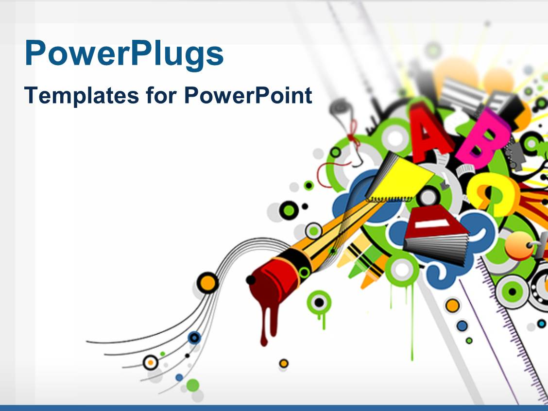 Powerpoint template various colorful alphabets with white for Power plugs powerpoint templates