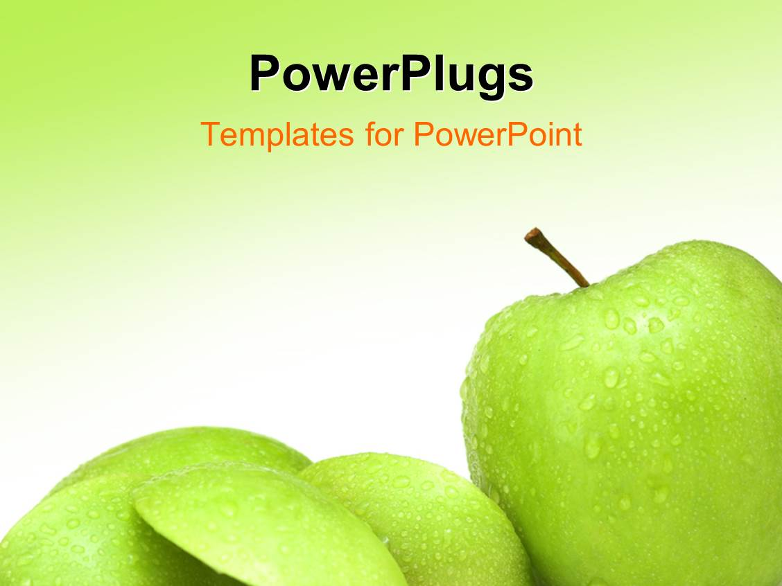 Powerpoint template various green apples with greenish background powerpoint template displaying various green apples with greenish background and place for text toneelgroepblik Gallery