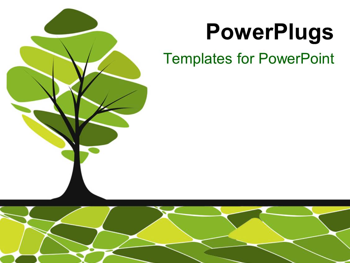 powerpoint template vector card design with stylized