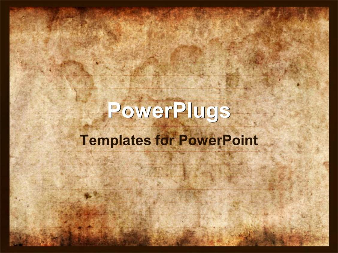 PowerPoint Template: vintage background of old paper with ...