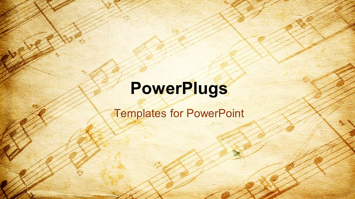 powerpoint template: vintage paper background depicting music, Modern powerpoint