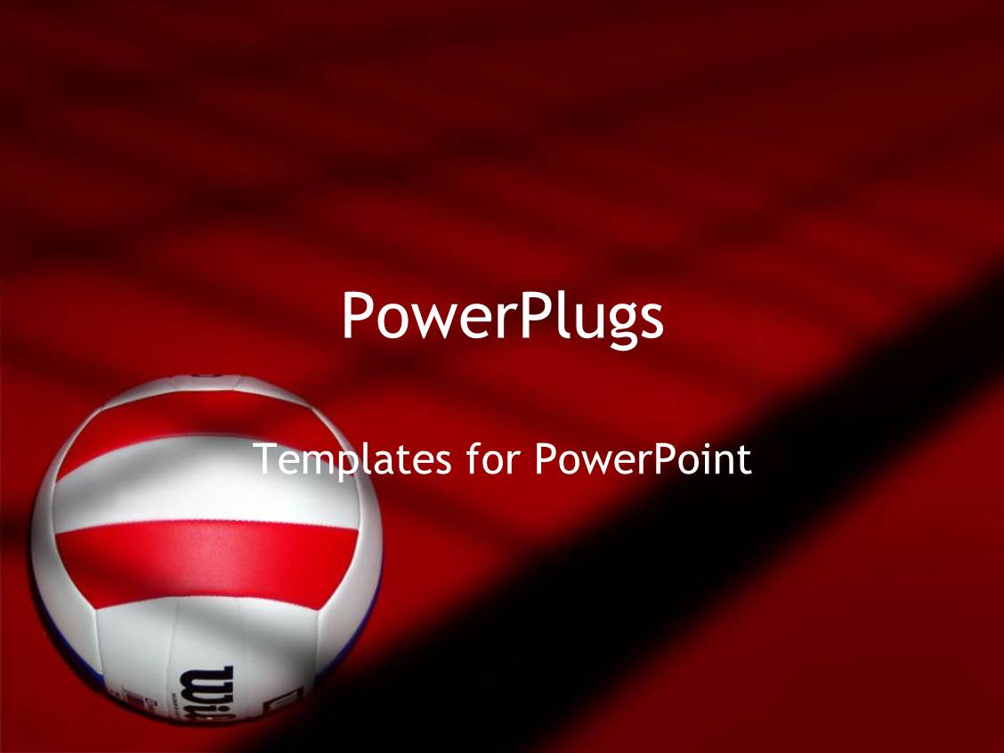 Volleyball powerpoint templates crystalgraphics ppt theme featuring volleyball on red and black background white with red and black volleyball toneelgroepblik Choice Image