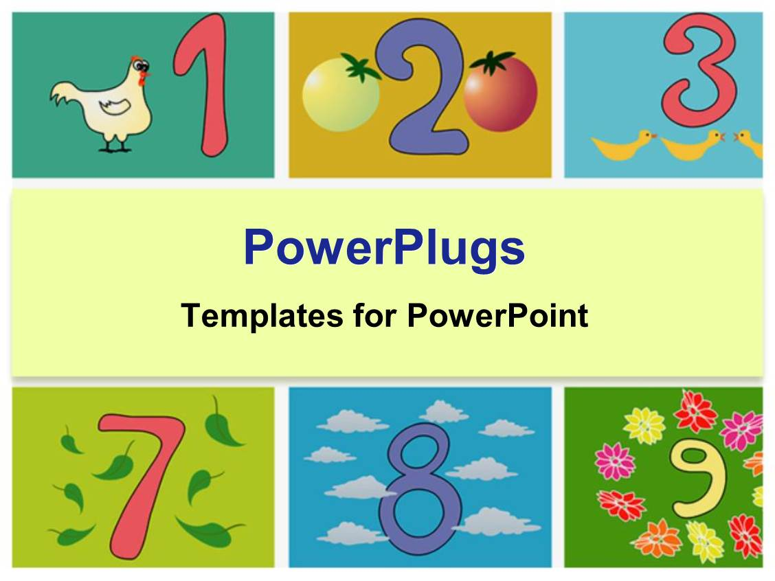 Powerpoint template whimsical numbers counting kindergarten powerpoint template displaying whimsical numbers counting kindergarten elementary education toneelgroepblik Image collections