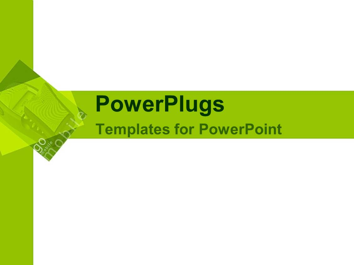powerpoint template white background with trendy green