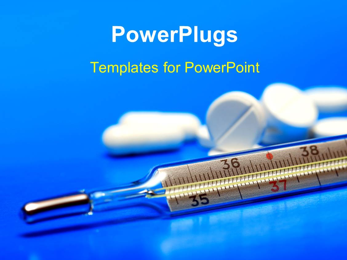 Powerpoint template white color tablets and clinical for Power plugs powerpoint templates