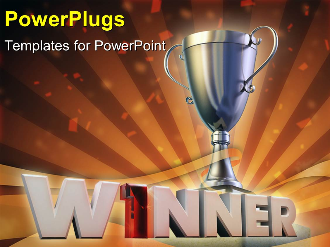 Award winning powerpoint templates gallery templates example award winner powerpoint templates crystalgraphics beautiful ppt having the winning cup with celebration material in background toneelgroepblik Image collections