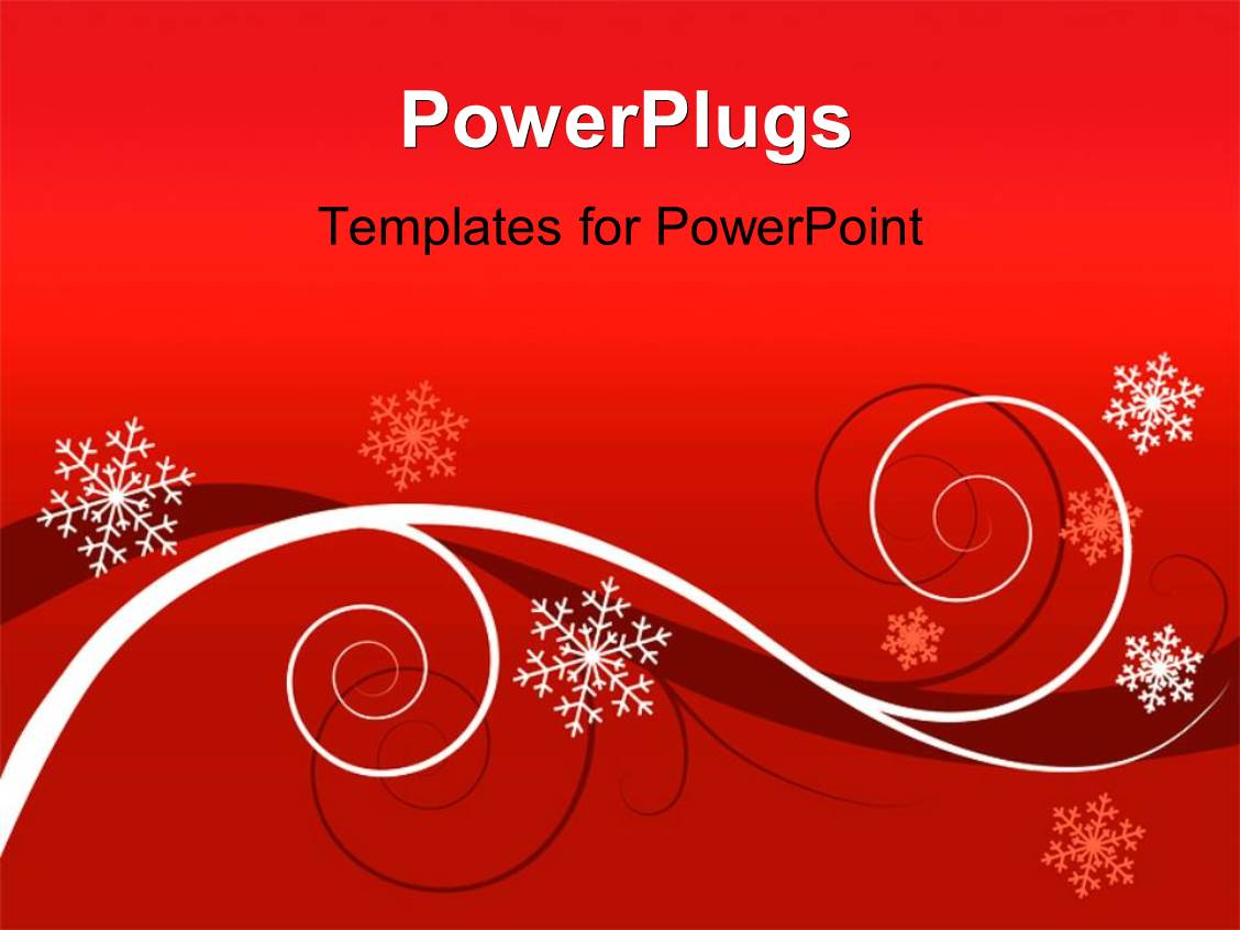 powerpoint template winter red floral background