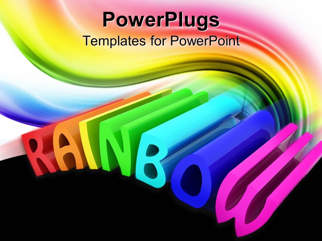 rainbow powerpoint templates | crystalgraphics, Modern powerpoint