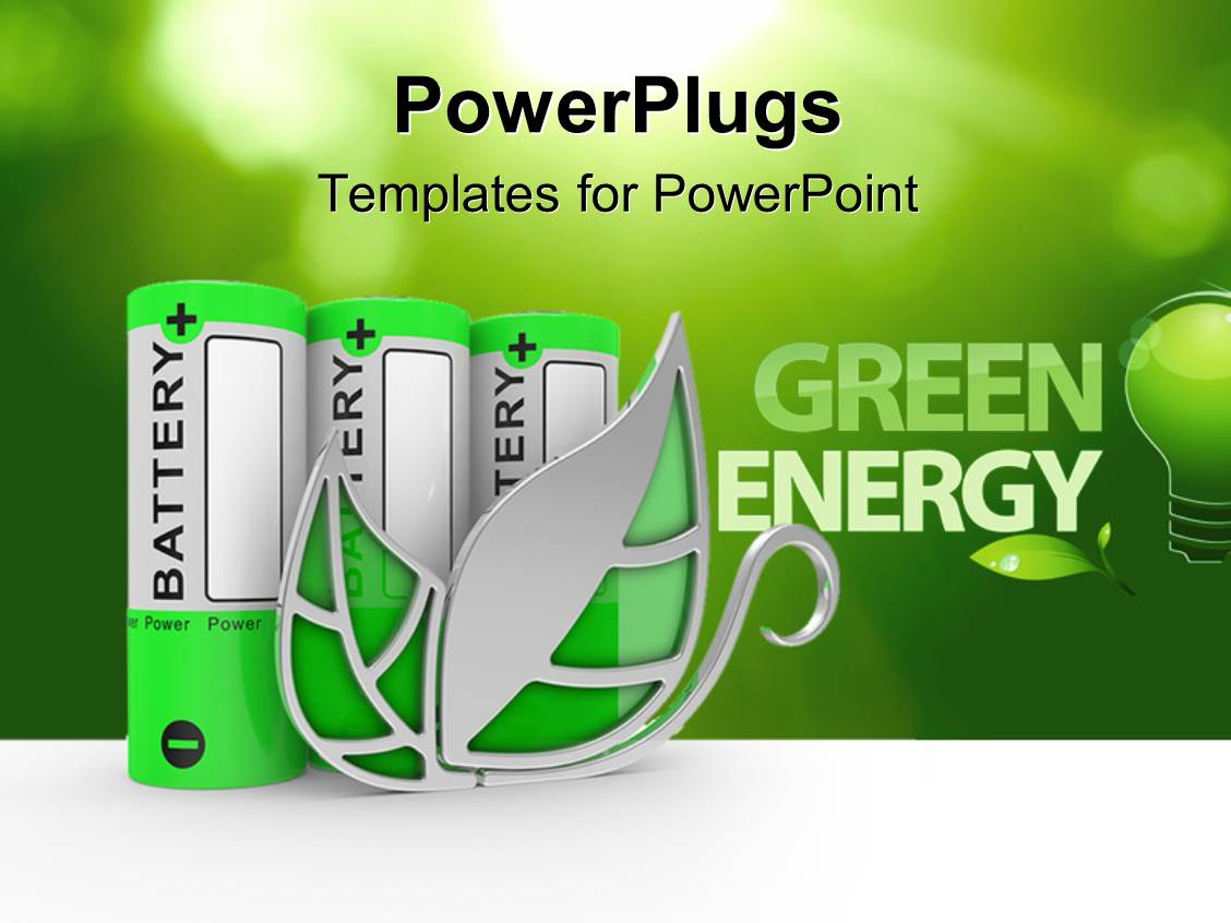 Powerpoint template the words green energy with a lot of battery powerpoint template displaying the words green energy with a lot of battery cells toneelgroepblik Choice Image
