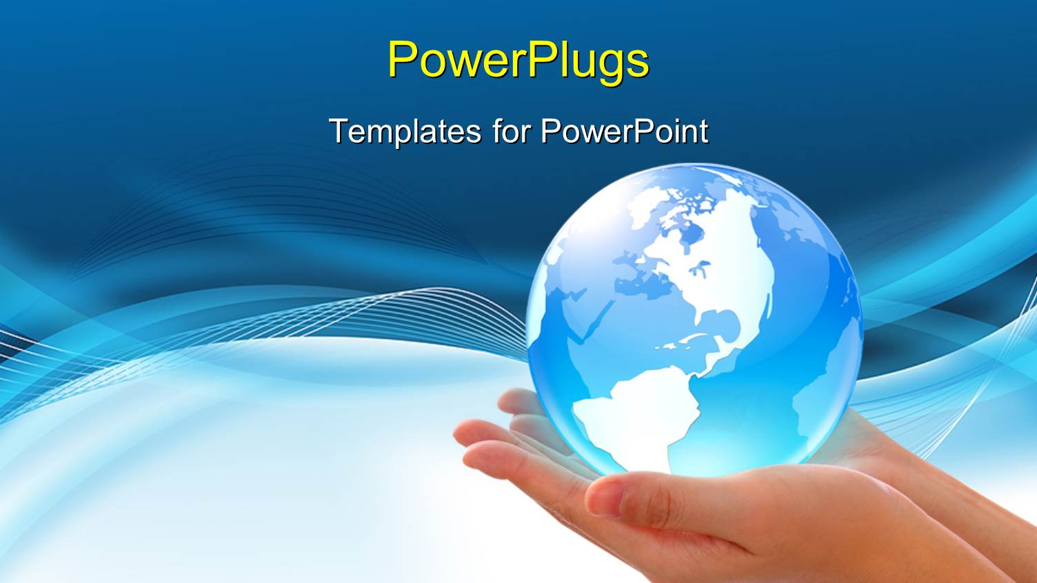 Powerpoint template world in hand global internet business powerpoint template displaying world in hand global internet business concept toneelgroepblik Gallery