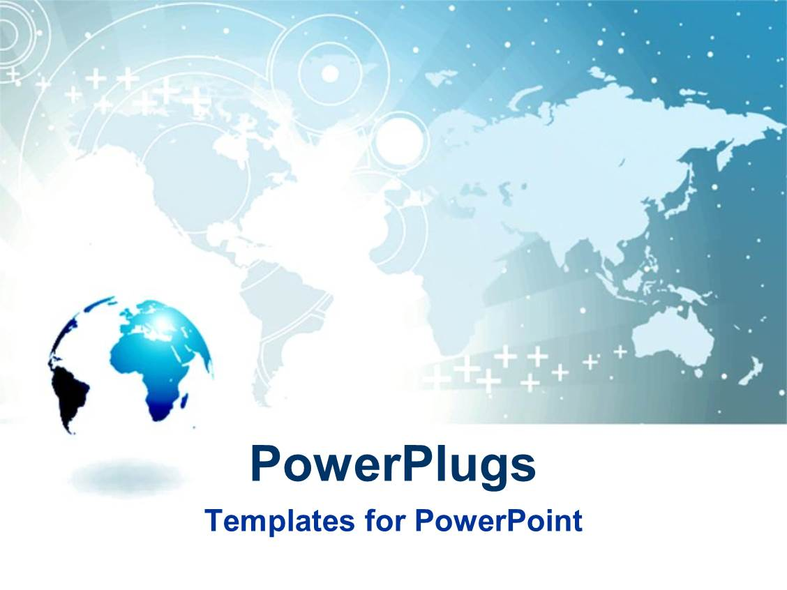 world map powerpoint template free image collections - templates, Modern powerpoint